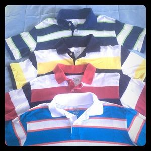 4 Children's Place Striped Polo Shirts